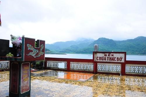 Đền Thác Bờ linh thiêng ở Thung Nai - Den Thac Bo linh thieng o Thung Nai